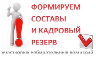 ИДЕТ  ПРИЕМ ПРЕДЛОЖЕНИЙ ПО КАНДИДАТАМ В СОСТАВЫ УИК(в резерв УИК).